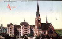 Berlin Schöneberg Friedenau, Nathael Kirche mit Schule