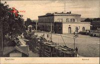 Berlin Spandau, Blick auf den Bahnhof, Straßenbahn