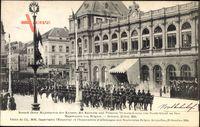 Bruxelles Brüssel, Kaiser Wilhelm II., Viktoria Luise zu Besuch 25 Okt 1910
