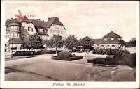 Berlin Reinickendorf Frohnau, Am Bahnhof, Straßenpartie, Cafe Frohnau um 1931