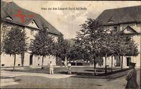 Berlin Pankow Buch, Blick auf das Lazarett, Soldaten, Fassaden
