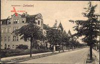 Berlin Zehlendorf, Blick in die Annastraße, Fassaden, Häuser