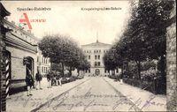 Berlin Spandau Ruhleben, Blick zur Kriegstelegraphenschule, Soldaten