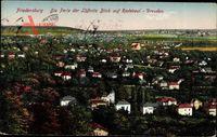 Radebeul, Friedensburg, Blick auf Stadt, Dresden