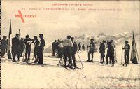 Superbagneres Haute Garonne, Plateau, Départ dune Course de Skis