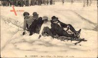 Luchon Haute Garonne, Sports dHiver, Un Bobsleigh, Bobfahrer