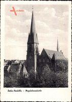 Berlin Neukölln, die Magdalenenkirche mit Umgebung