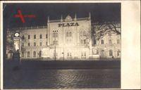 Berlin Friedrichshain, Franz Mehring Platz, Plaza, Nacht, Persil Reklame