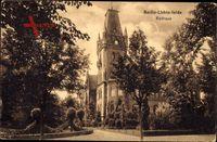 Berlin Steglitz Lichterfelde, Straßenpartie mit Blick auf das Rathaus