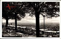Radebeul, Spitzhaus, Blick vom Garten nach Dresden, Alfred Fischer