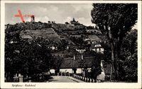 Radebeul, Blick hoch zum Spitzhaus, Bergterrassen, Ort