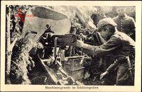 Deutsche Soldaten, Maschinengewehr im Schützengraben