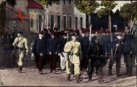 Kriegsgefangene Franzosen bei der Arbeit, Wächter