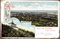 Radebeul Sachsen, Blick auf die Stadt, Spitzhaus mit Terrassen