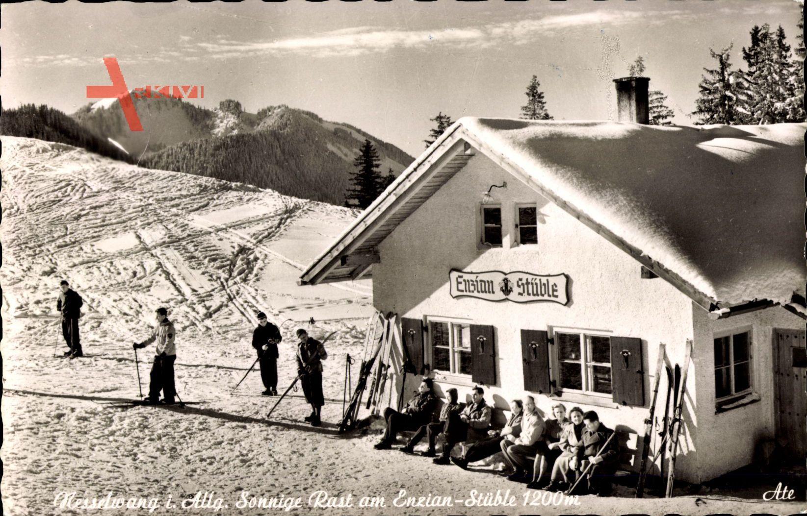 Nesselwang Allgäu, Sonnige Rast am Enzian Stüble, Winter, Schnee