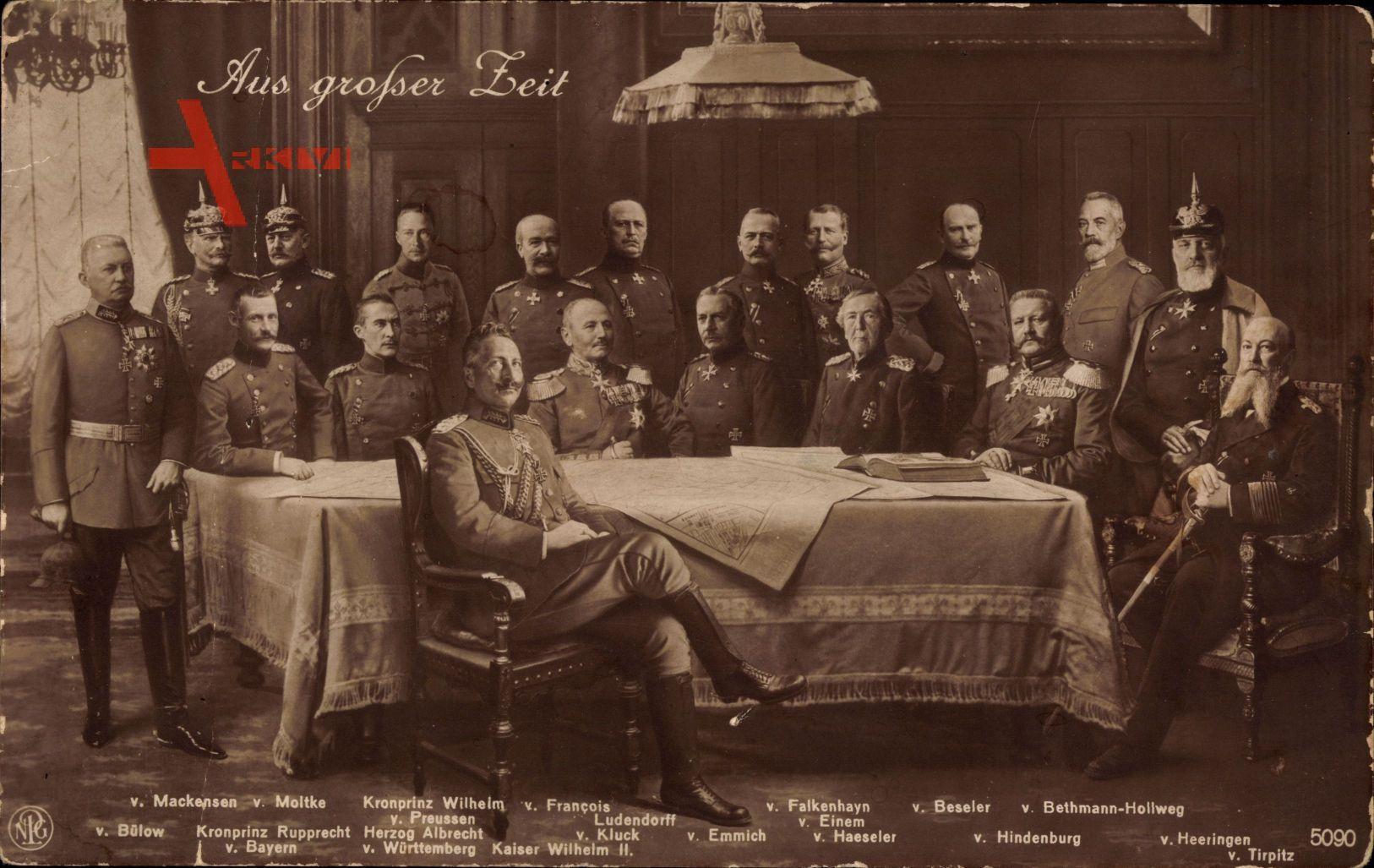 Kaiser Wilhelm II., Generäle, Aus großer Zeit, NPG 5090