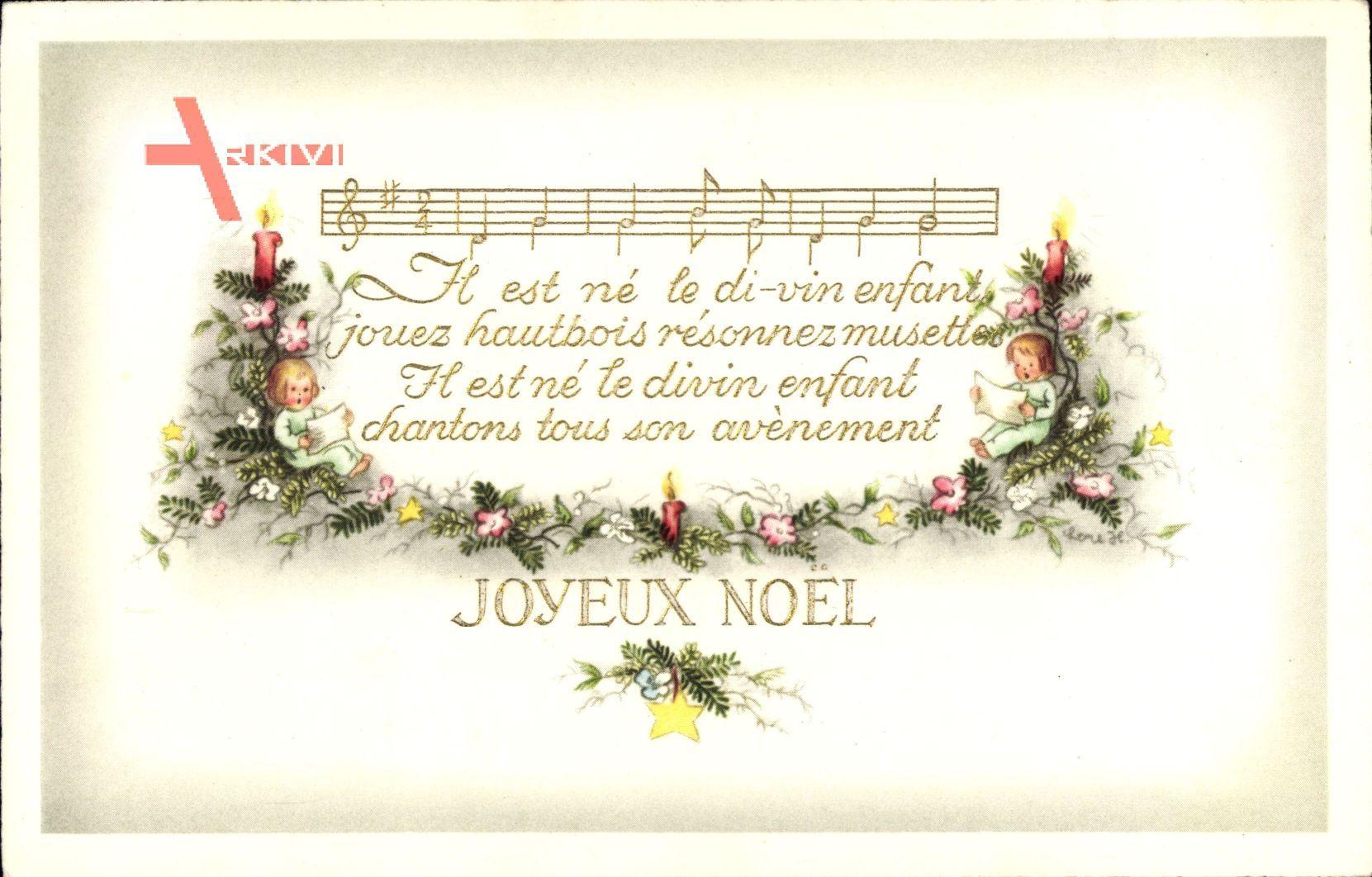 Text Frohe Weihnachten.Lied Frohe Weihnachten Joyeux Noel Noten Text