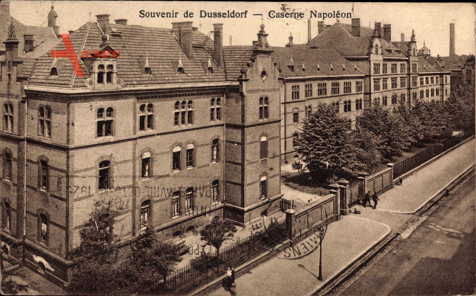 Düsseldorf am Rhein, Teilansicht der Kaserne Napoleon