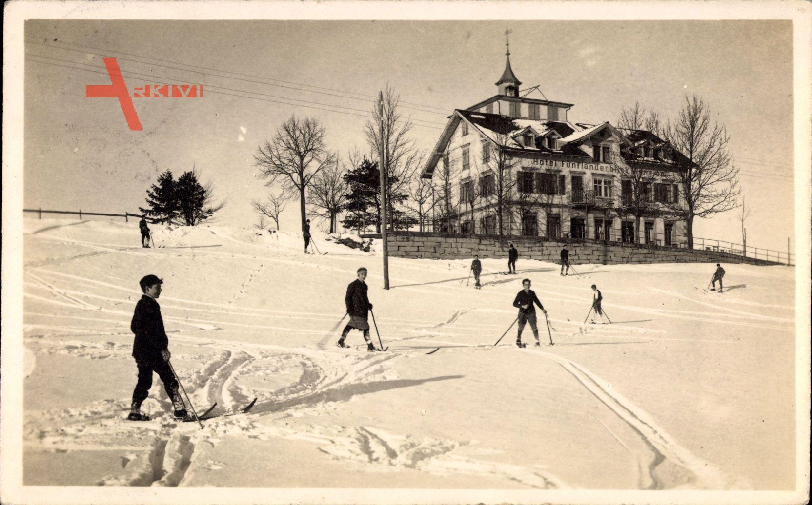 Heiden Kt. Appenzell Außerrhoden Schweiz, Hotel und Pension, Skifahrer