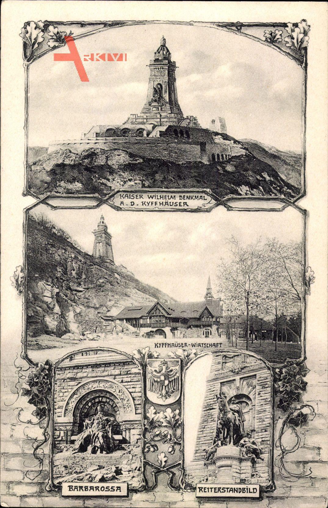 Kyffhäuserland Thüringen, Kaiser Wilhelm Denkmal, Barbarossa, Wirtschaft