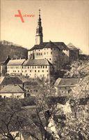 Weesenstein Müglitztal, Blick auf Schloß Weesenstein im Frühling
