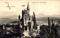 Teplice Teplitz Schönau Reg. Aussig, Blick auf die Kaiser Franz Josef Warte