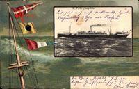 Passepartout Reichspostdampfer Seydlitz, Norddeutscher Lloyd Bremen