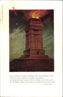 Dresden Süd Plauen Räcknitz, Gedicht von Max Bewer, Bismarckturm
