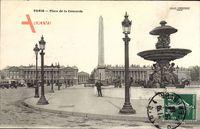 Paris, Place de la Concorde, Denkmal, Brunnen, Straßenlaternen