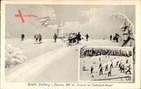 Schmitten im Hochtaunuskreis Hessen, Großer Feldberg, Skifahrer
