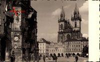 Praha Prag, Blick auf den Altstädter Ring, Kirche, Astronomische Uhr