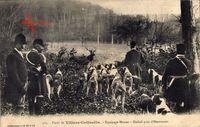 Villers Cotterets Aisne, Forêt, Equipage Menier, Hallali près d'Haramont