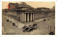 New York USA, Pennsylvania Station, Straßenpartie am Bahnhof