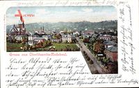Oberlössnitz Radebeul im Kreis Meißen, Panoramablick auf die Stadt