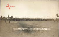 Zeithain in Sachsen, Königsparade 1913 auf dem Feld