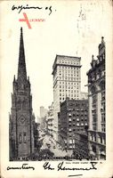 New York City, Trinity Church and American Surety Building