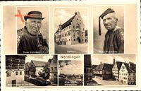 Nördlingen, Rieser Volkstracht, Rathaus, Gerberhäuser, Marienhöhe, Gürtelhaus