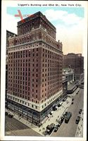 New York City USA, Liggett's Building and 42nd Street