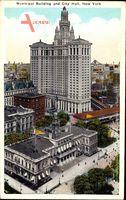 New York City USA, Municipal Building and City Hall