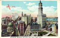 New York City, Woolworth Building and City Hall Park