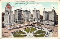 New York City, Pershing Square, Platz, Skyscrapers