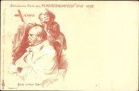 Aus alter Zeit, Fürst Otto von Bismarck, Friseur,Kladderadatsch 1898