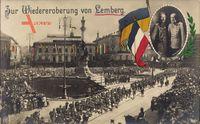 Lwów Lemberg Ukraine, Wiedereroberung, Kaiser Wilhelm II., Franz Josef I.