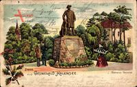 Berlin Wilmersdorf Grunewald Halensee, Blick auf das Bismarck Denkmal