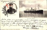 Singapur Asien, Schiff R.P.D. Main, Kapitän von Borell