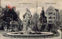 Berlin Schöneberg Friedenau, Blick auf den Sintflutbrunnen