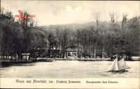 Berlin Zehlendorf Wannsee, Blick auf Moorlake, Segelboot
