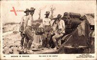Anzacs in France, Hot work in hot weather, Australische Soldaten, Geschütz