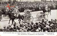 Paris, 14 Juillet Historique, Artilleurs Francais à la Concorde