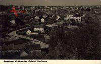 Lindenau Radebeul, Blick auf den Ort, Häuser, Straße, Wald